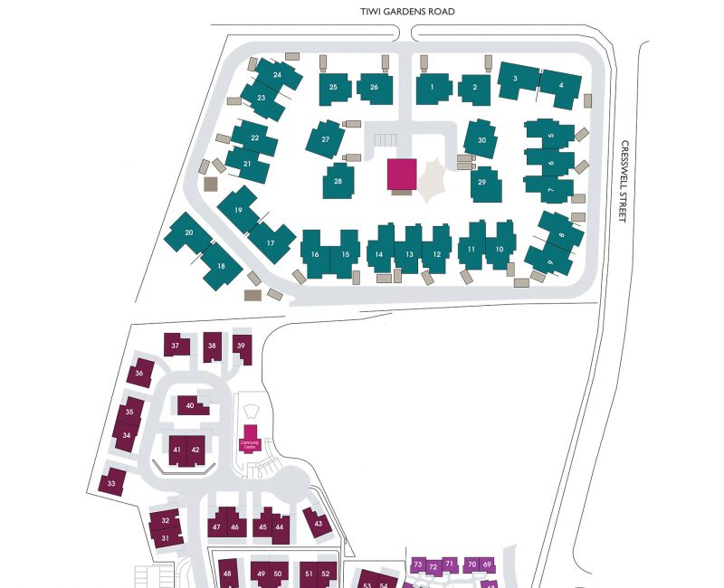 Tiwi Gardens Village and Villas Map