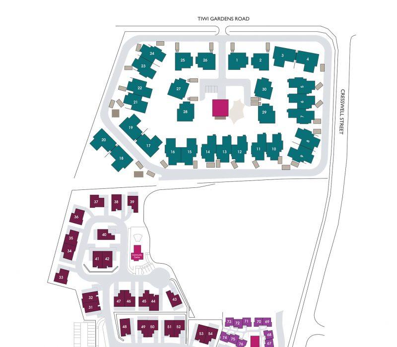 Tiwi Gardens Village and Villas Map