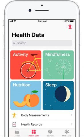 Health app for iOS