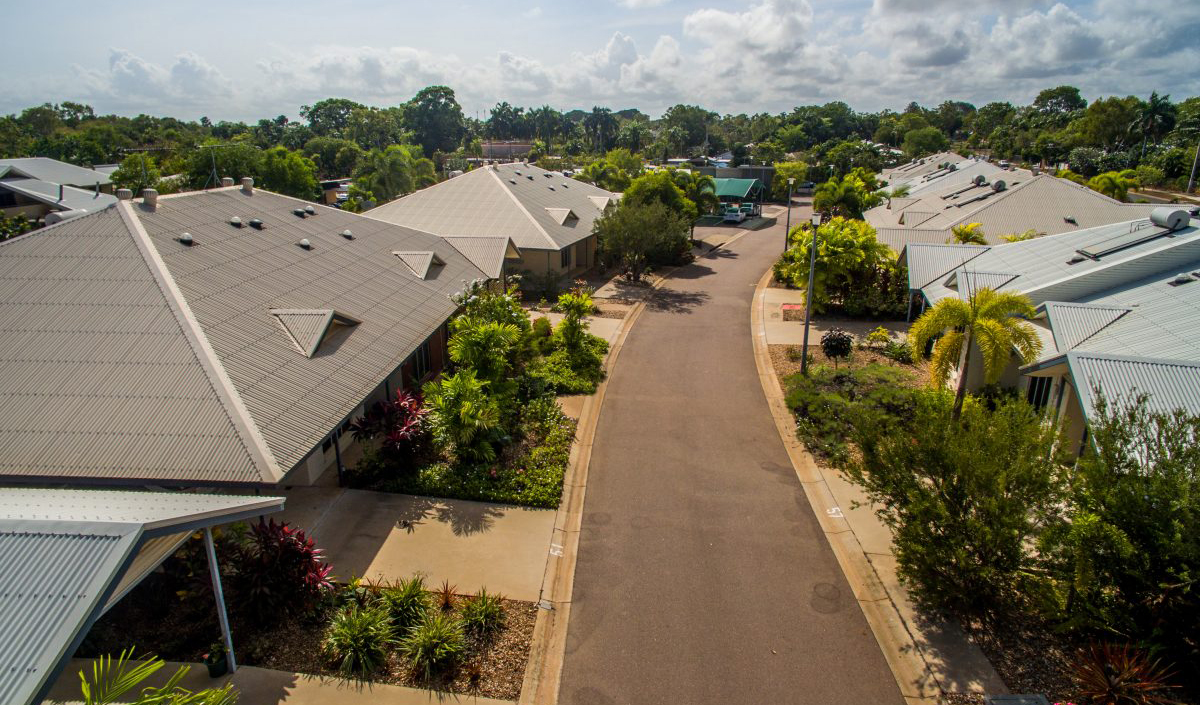 aerial view of tiwi gardens villas